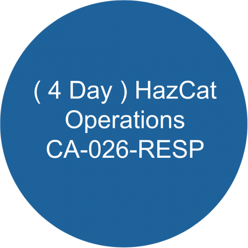 ( 4 Day ) HazCat- Operations /CA-026-RESP