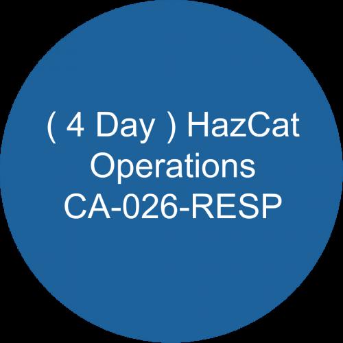 ( 4 Day ) HazCat- Operations /CA-026-RESP